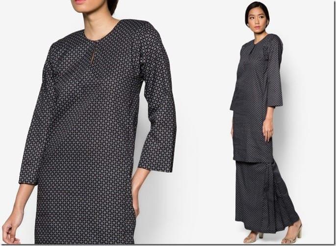 black-geometric-baju-kurung