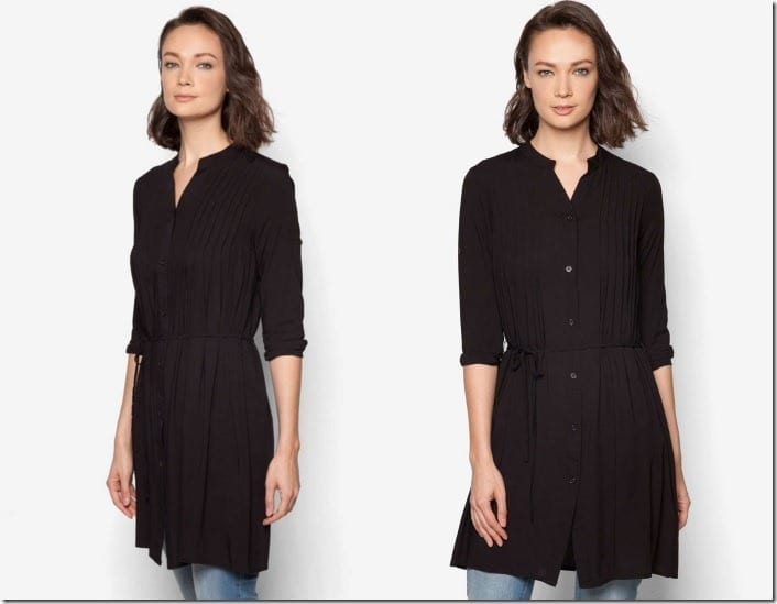 black-pleated-tunic-top