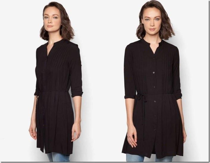 black-pleated-tunic-top