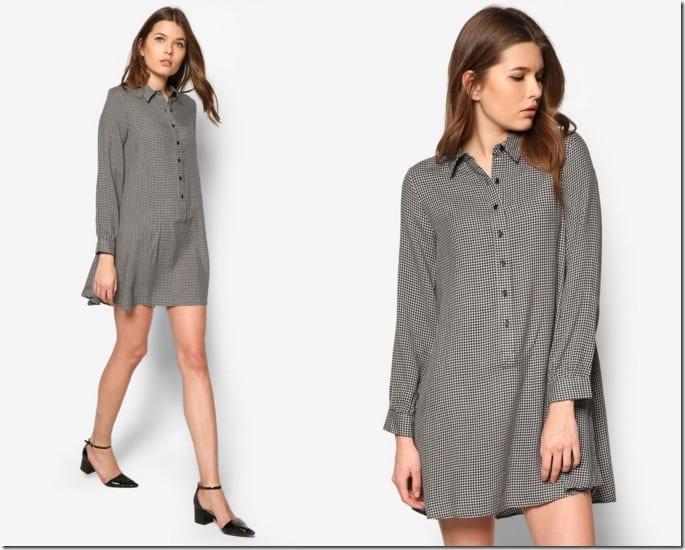 checkered-shirt-dress