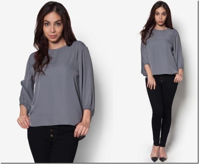 grey-drape-sleeve-top