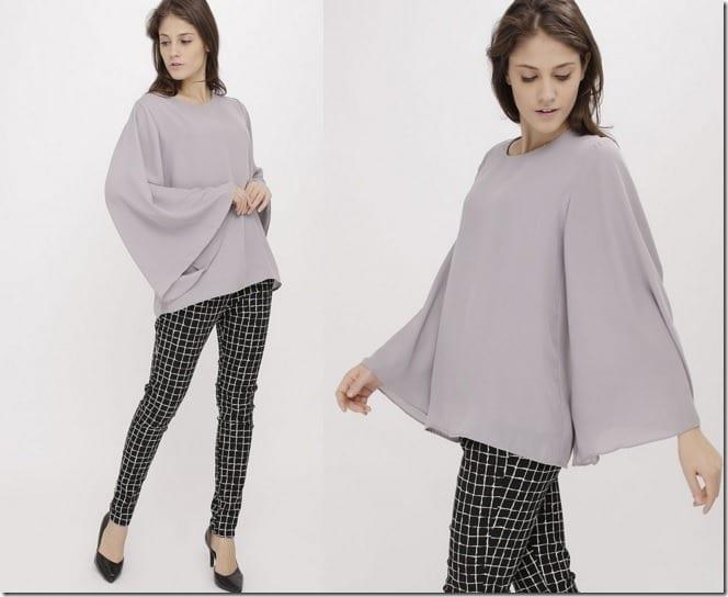 grey-flared-sleeve-top