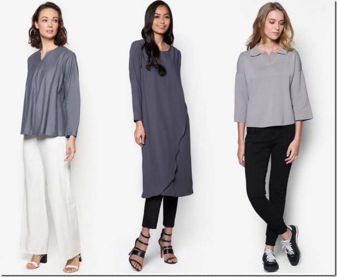 10 GREY Blouse Ideas For Raya 2016