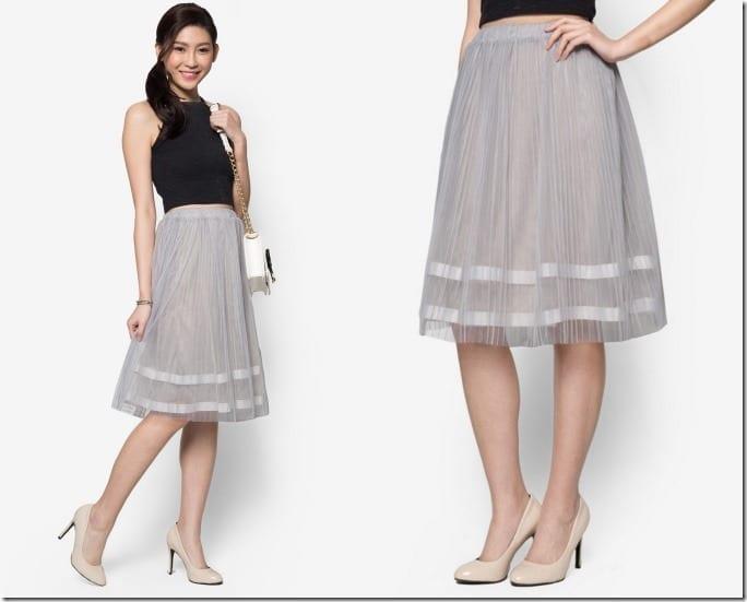 grey-tulle-midi-skirt