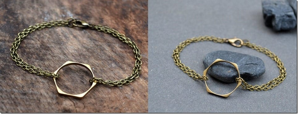hexagon-brass-bracelet