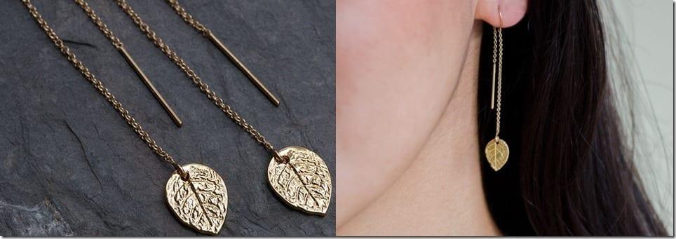 leaf-charm-threader-earrings