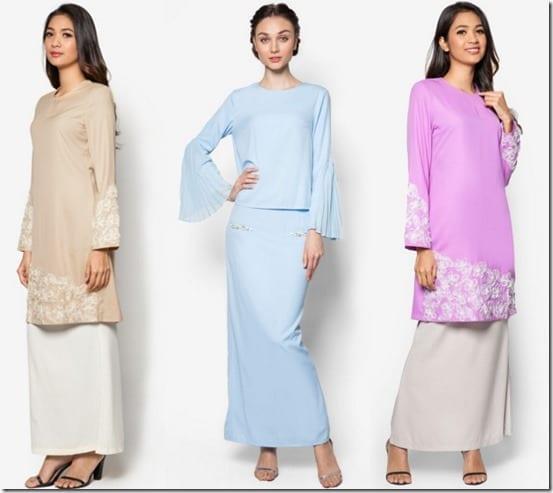 7 Glamorous Pastel Baju Kurung Ideas For Raya 2016
