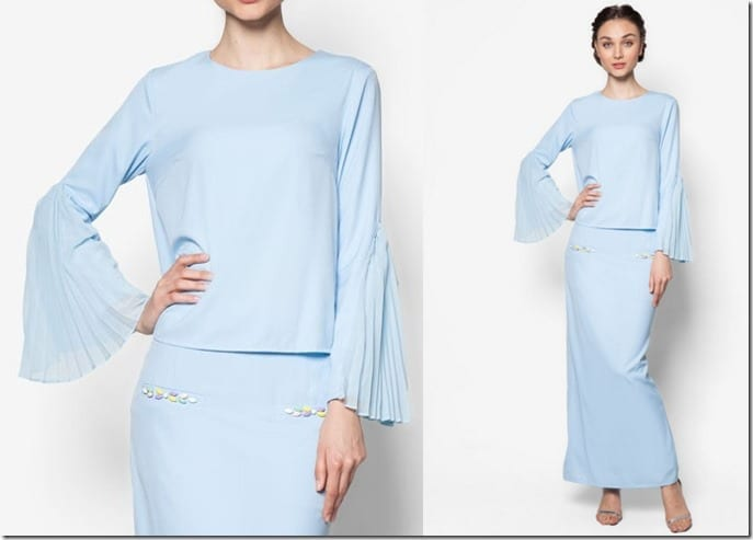 pastel-blue-pleated-sleeve-kurung