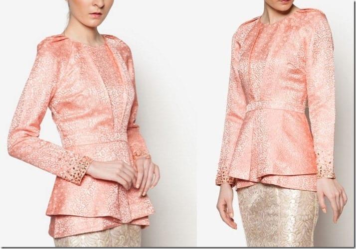 pink-brocade-peplum-top