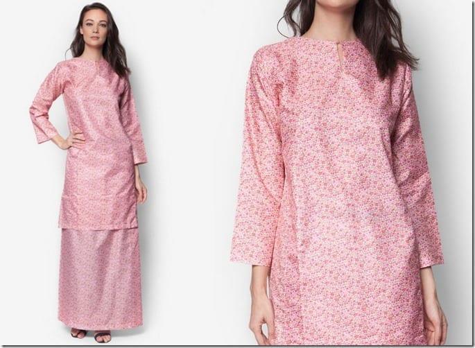 pink-floral-baju-kurung