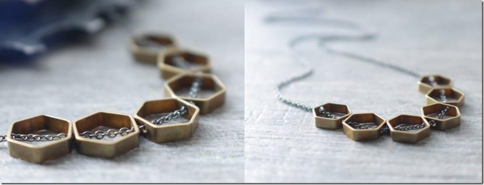 raw-brass-hexagon-necklace