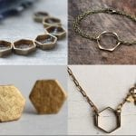 Fashionista NOW: Rustic Brass Hexagon Jewelry Ideas