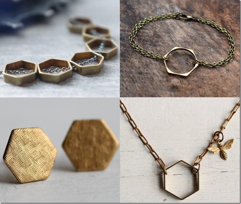 Rustic Brass Hexagon Jewelry Ideas