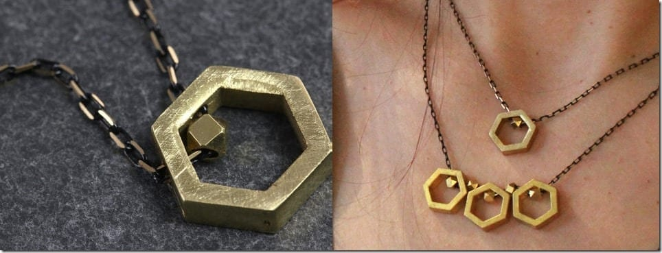 single-hexagon-brass-necklace