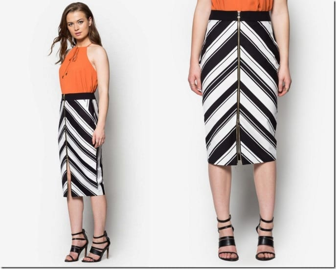 stripe-chevron-pencil-skirt