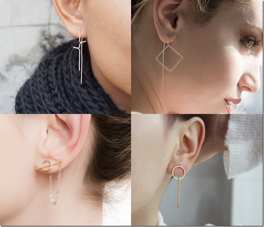 Unconventional Earrings ~ Threader Earring Styles Jewelry Inspiration