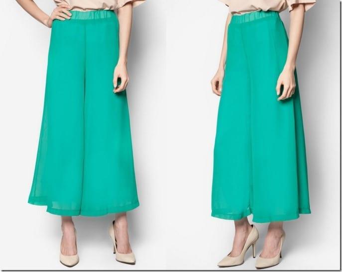 turquoise-chiffon-palazzo-pants