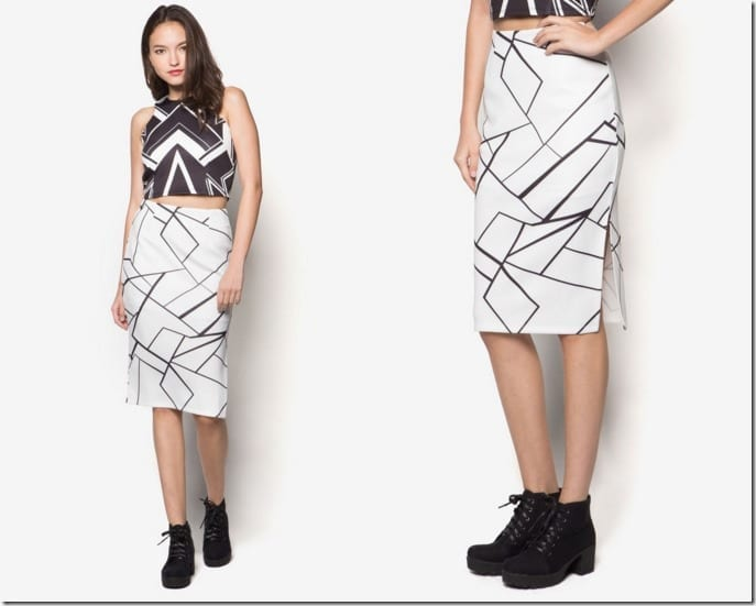 white-abstract-pencil-skirt