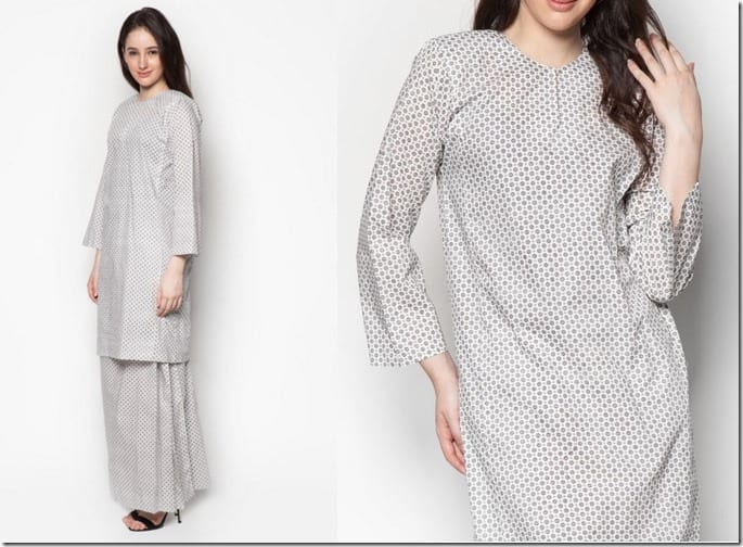 white-polka-dot-baju-kurung