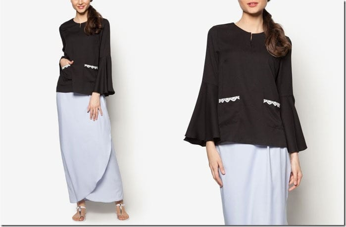black-blue-flare-sleeve-kurung