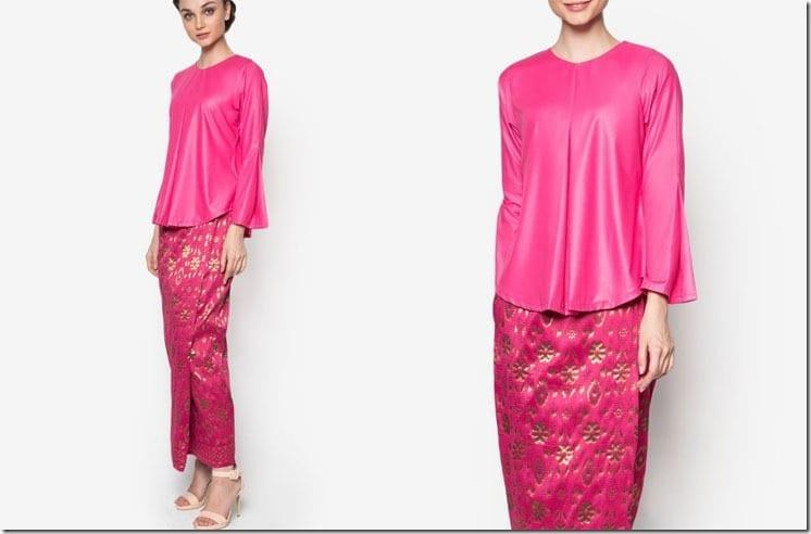 bold-pink-songket-kurung