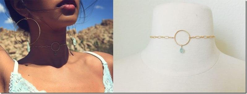circle-gold-mint-choker-necklace