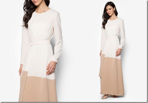 cream-colorblock-sheath-maxi-dress
