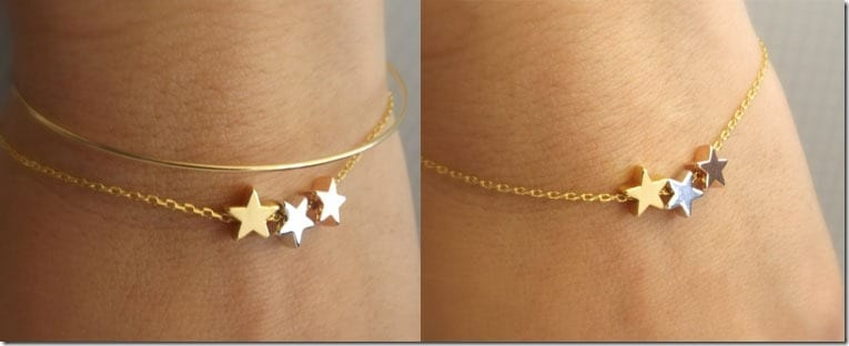 dainty-three-tone-star-bracelet