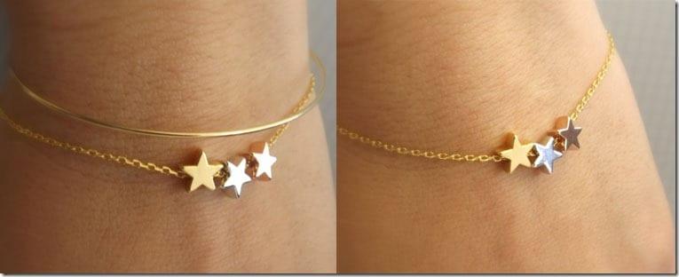 dainty-three-tone-star-bracelet