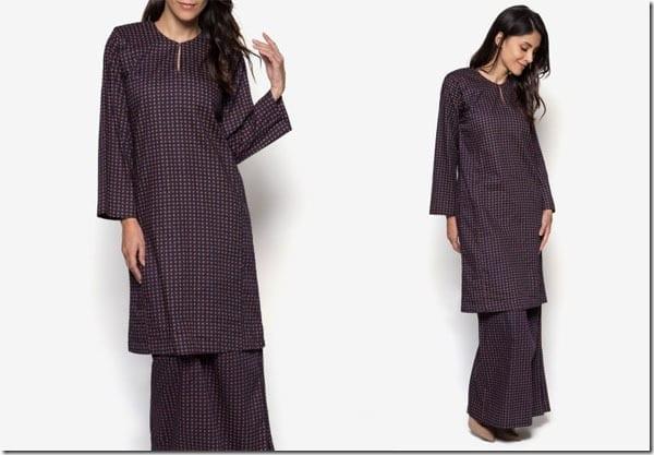 dark-blue-paisley-print-baju-kurung