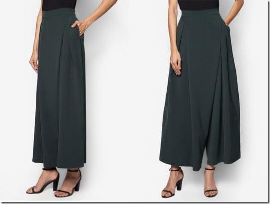 dark-green-asymmetrical-long-culottes