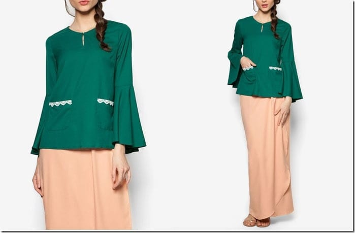 emerald-nude-flare-sleeve-kurung