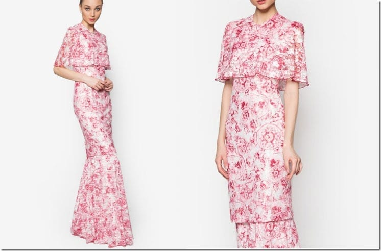 floral-pink-sari-kurung