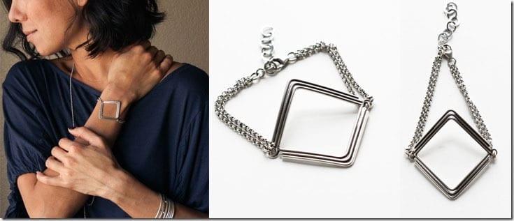 geometric-diamond-shape-silver-bracelet