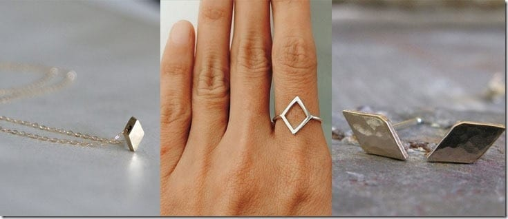 Geometric Diamond Shaped Jewelry Ideas