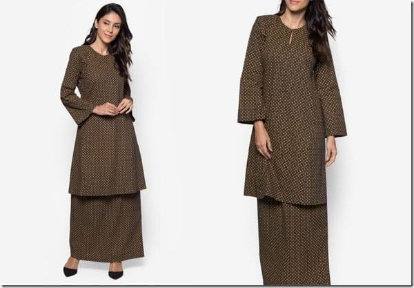 gold-black-print-minimal-baju-kurung