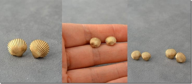gold-painted-seashell-earrings