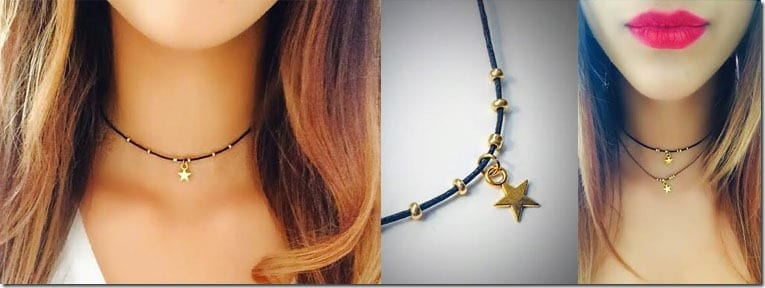 gold-star-beaded-choker-necklace