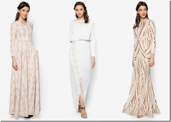 Gold And White Maxi Dress Style Ideas For Raya 2016