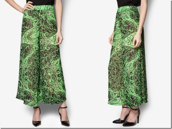 green-patterned-palazzo-pants