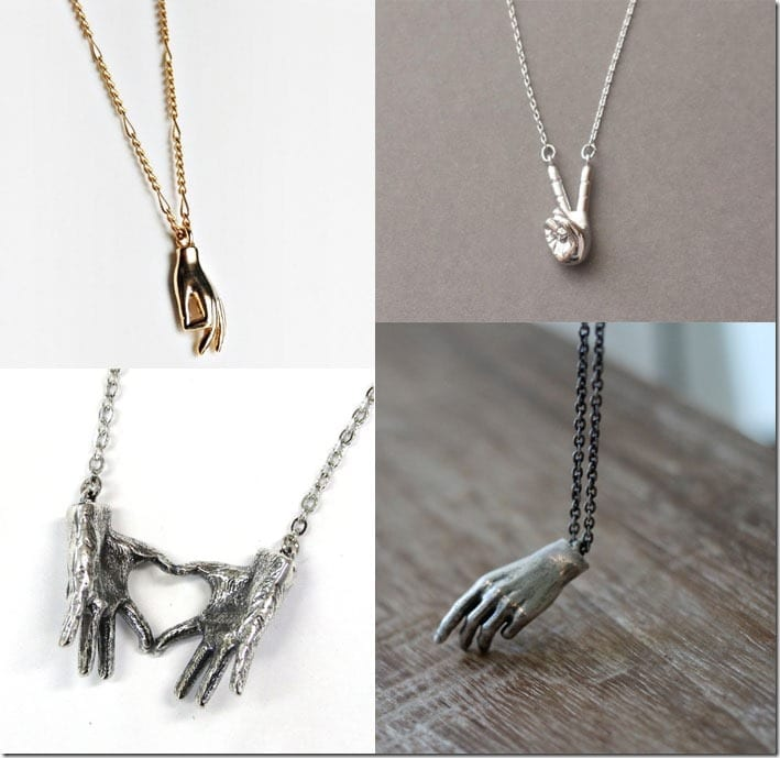 Hand Gesture Necklace Jewelry Inspiration