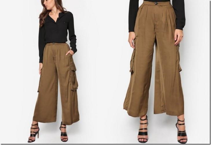 khaki-cargo-palazzo-pants