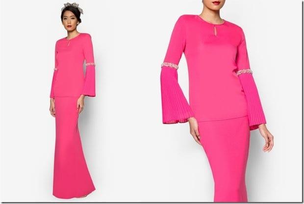 magenta-pink-baju-kurung