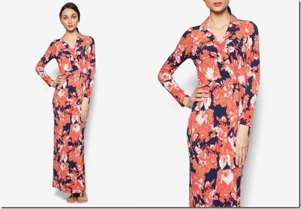 navy-orange-floral-maxi-dress