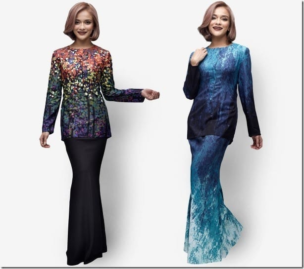 Ocean-Inspired Designer Modern Baju Kurung Ideas For Raya 2016
