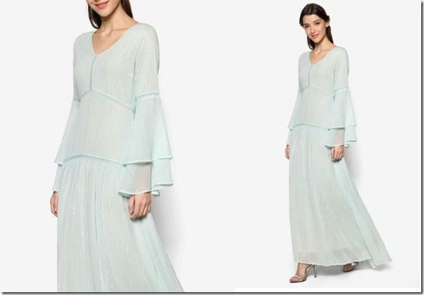 pastel-blue-layered-bell-sleeve-dress