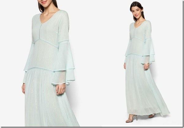 pastel-blue-layered-bell-sleeve-dress