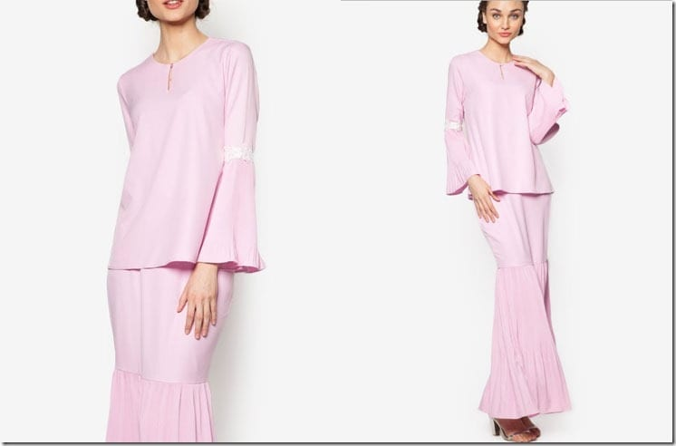 pleated-flared-sleeve-pink-kurung