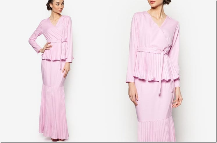pleated-pink-kimono-style-kurung