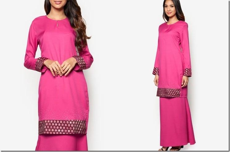 polka-dot-contrast-pink-kurung